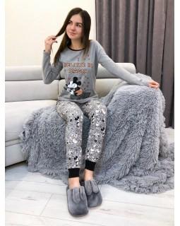 Пижама Кофта + Брюки Серый Микки
